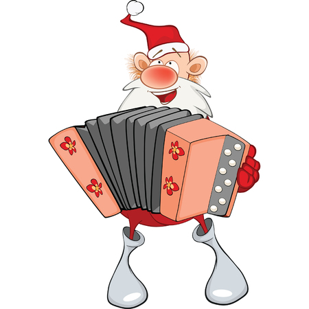 Cute Santa Claus Accordion Player
