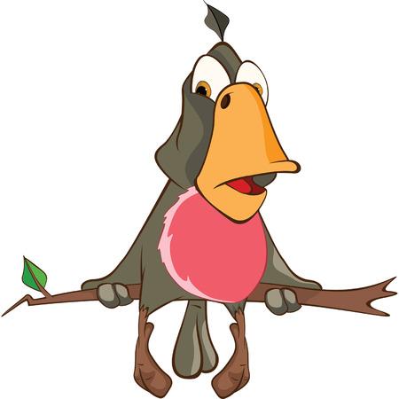 cute cartoon: Cute Parrot Cartoon Character Illustration