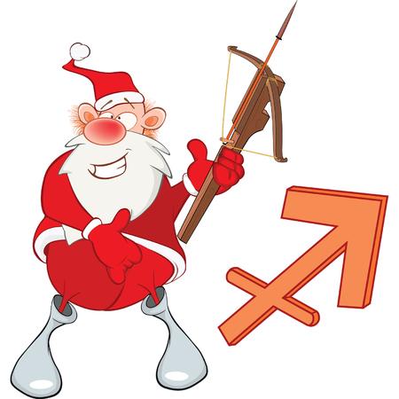 astrological: Santa Claus Astrological Sign Illustration