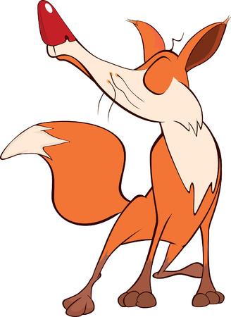 swindler: Young fox cartoon Illustration