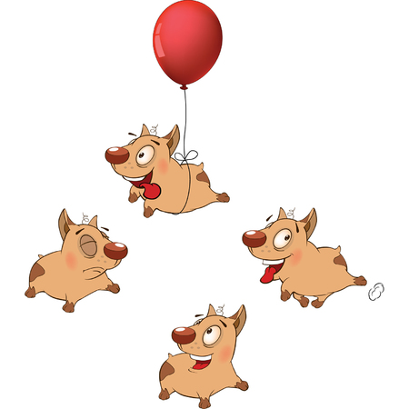 funny dogs: illustration of a set funny dogs. Cartoon