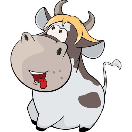 moo: little cow Cartoon