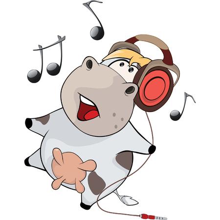 A little cow. Cartoon