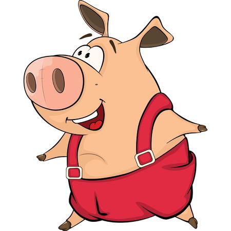 A cute pig farm animal cartoon