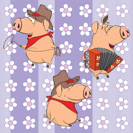 herder: A background with pigs. seamless pattern