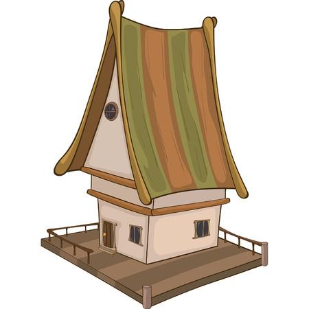 Drôle de bande dessinée Little House Vecteurs