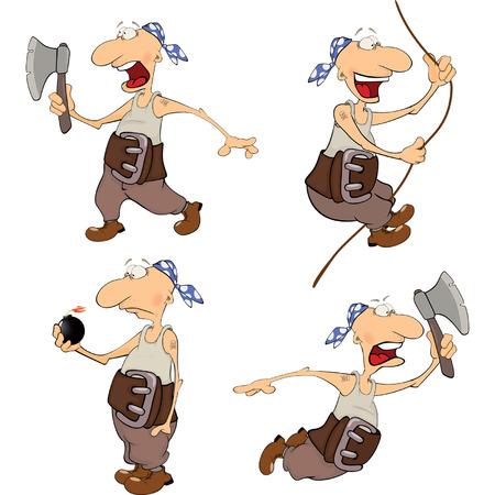 rudeness: Set of cute pirates for you design. Cartoon