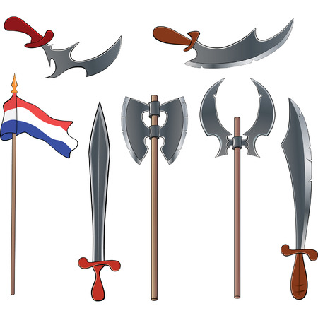 weapons: Ancient weapons set
