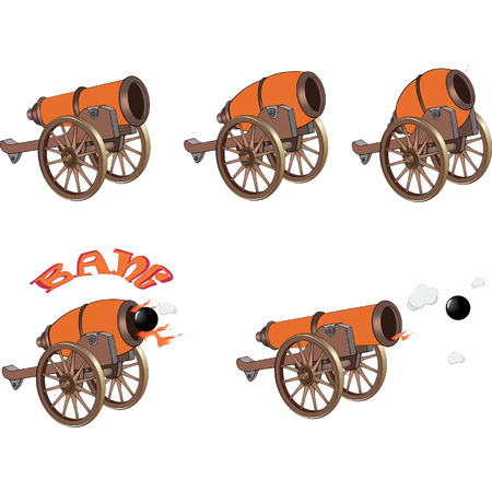 armory: cannons for you design and computer game Illustration