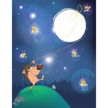 fireflies: A fairy tale about a hedgehog and the Moon