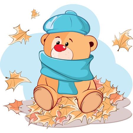 oso caricatura: juguete de peluche de dibujos animados cachorro de oso Vectores