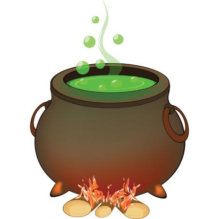 magic cauldron: the Magic Cauldron Halloween Accessory Object Illustration