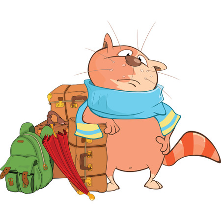 voyager: Illustration of Cute Cat Cartoon Character Illustration