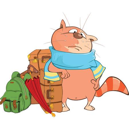 Illustration von Cute Cat Cartoon-Figur Vektorgrafik