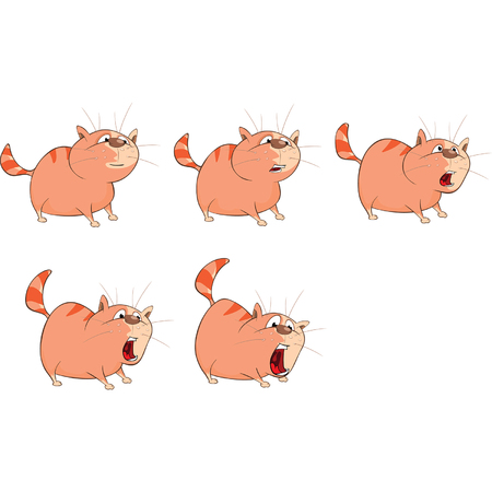 Storyboard: Cartoon Character Cute Cat for a Computer Game. Storyboard
