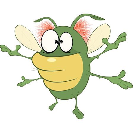 glowworm: Illustration of a Funny Bug. Cartoon Character