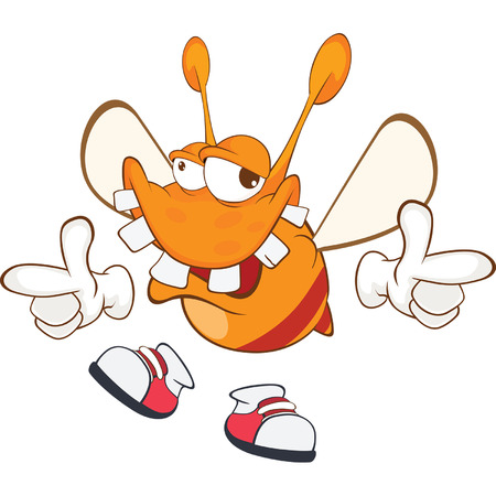 ugliness: Illustration of a Funny clothes moth. Cartoon Character