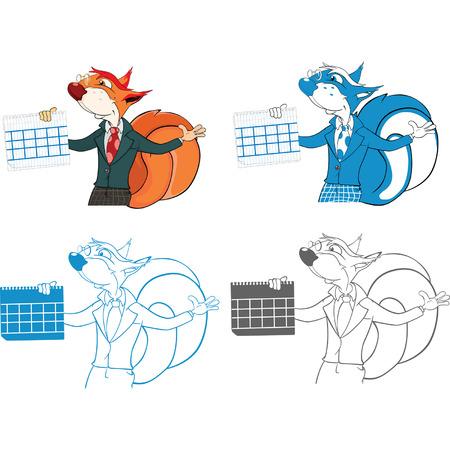 the rascal: Squirrel Teacher Cartoon