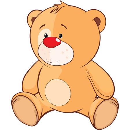 cachorro: juguete de peluche de dibujos animados cachorro de oso Vectores