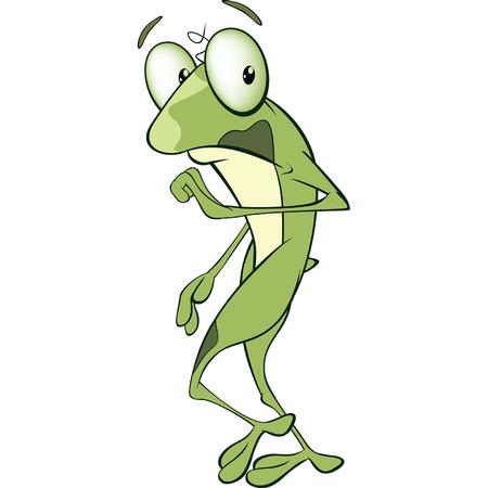 repulsive: Illustration of Cute Green Frog Cartoon Character