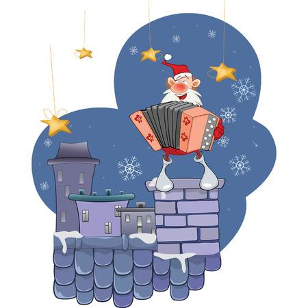 acordeón: Papá Noel lindo acordeón