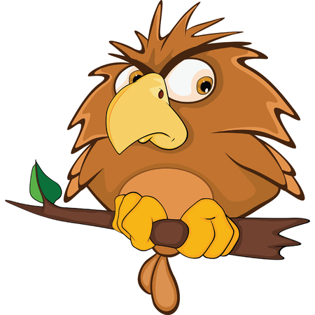 Illustration of a Cute Owl. Cartoon Character