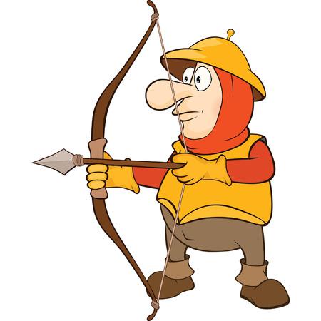 longbow: Knight Archer Cartoon Character