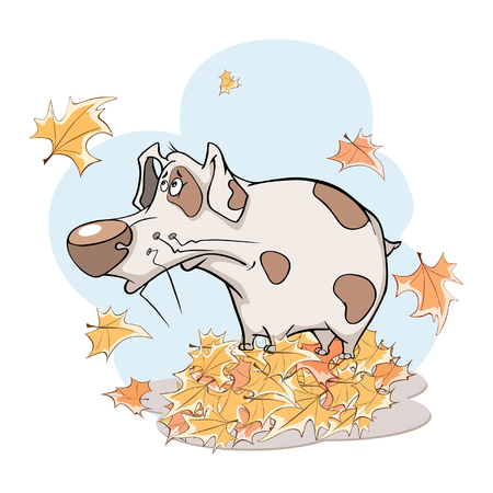 Illustration of a Cute Dog.