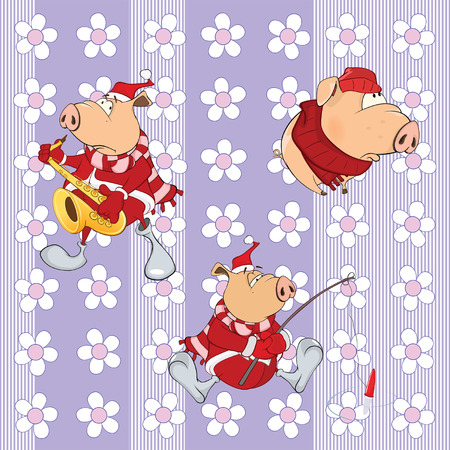 artful: Background with pigs seamless pattern