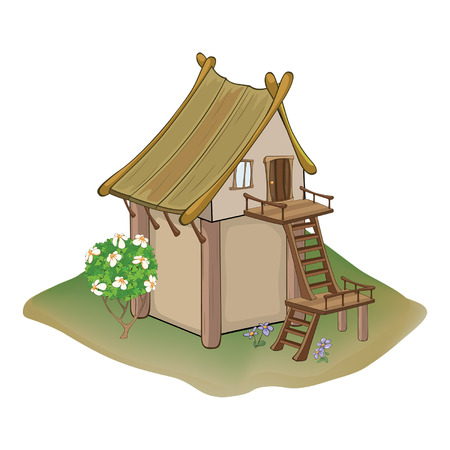 residential construction: Illustration of Old House for a Computer Game