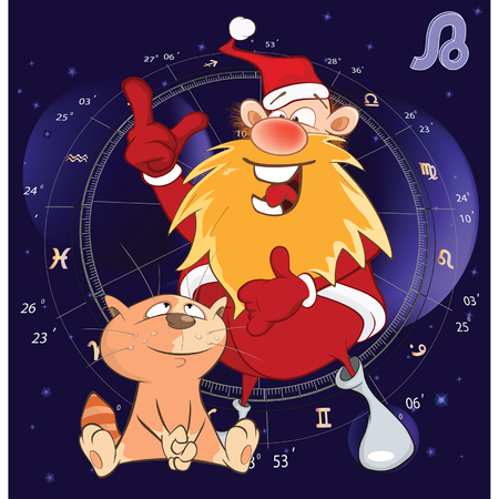 prediction: Illustration of a Zodiac Signs Leo. Cartoon Character