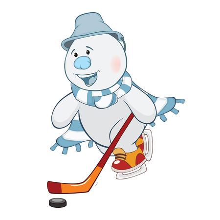 Illustration de mignon bonhomme de neige