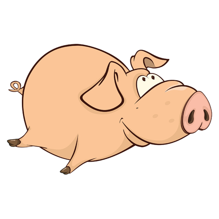 Illustration of a Cute Pig