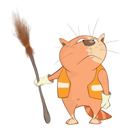 Illustration of Cute Cats. Cartoon Character Illustration