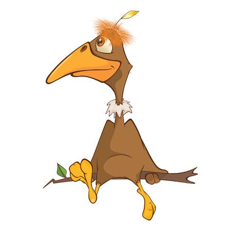 Illustration of a Cute American Condor Cartoon Character Çizim