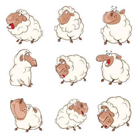 Set of Cartoon Illustration