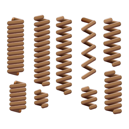 A complete set springs. Stock Vector - 98340514