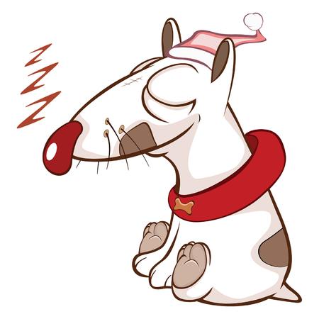 Illustration of a Cute Dog. Cartoon Character Vector illustration.