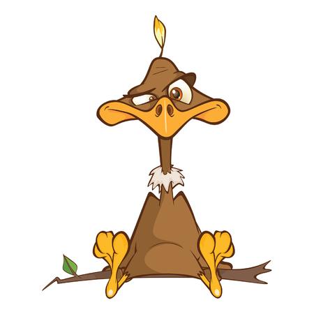 Illustration einer niedlichen amerikanischen Kondor-Zeichentrickfigur Vektorgrafik