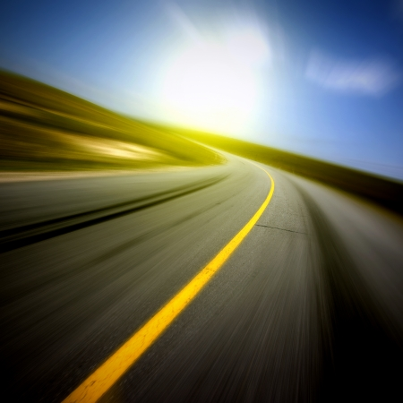 Motion blur road photo