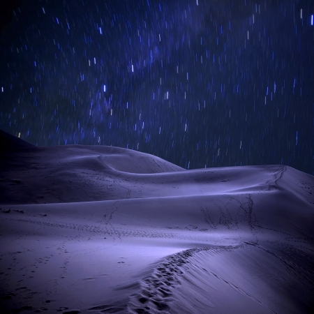 Desert under the stars photo