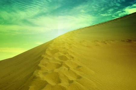 Desert in china dunhuang photo