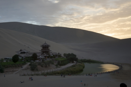 Crescent Moon Spring in Dunhuang photo