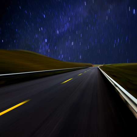 Highway under the stars photo