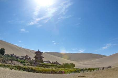 Chinese Dunhuang Crescent Lake