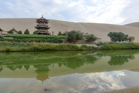 Crescent moon lake,dunhuang,china
