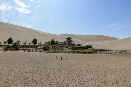 Chinese Dunhuang Crescent Lake photo