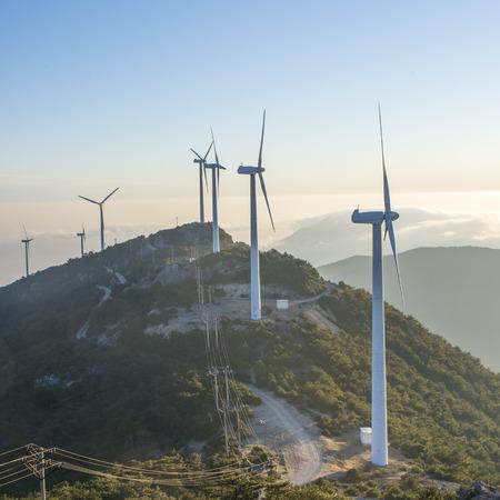Windmill mountain sunrise scenery