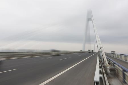 China Bridge Road in speed mode Archivio Fotografico