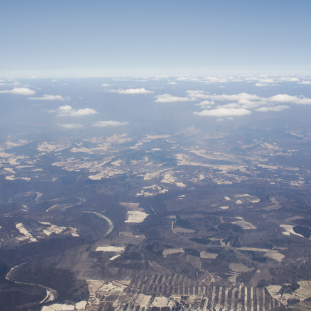 aerial looking of Ice and snow at Changbai Mountain